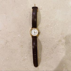 COACH Vintage Mini Leather Strap Watch